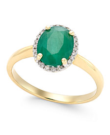 Emerald (1-3/4 ct. t.w.) and Diamond Accent Ring in 14k Gold
