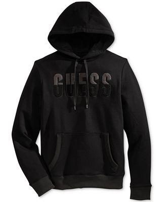 GUESS Men's Graphic Pullover Sweatshirt - Hoodies & Sweatshirts ...