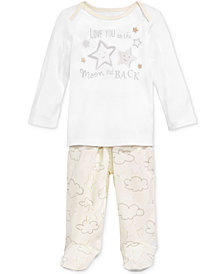 First Impressions 2-Pc. To The Moon Top & Footed Pants Set, Baby Boys & Girls, Created for Macy's