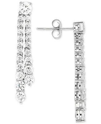Wrapped in Love Diamond Linear Drop Earrings (2 ct. t.w