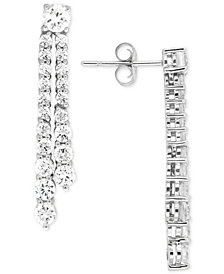 Wrapped in Love™ Diamond Linear Drop Earrings (2 ct. t.w.) in 14k White Gold, Created for Macy's