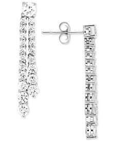 Wred In Love Diamond Linear Drop Earrings 2 Ct T W 14k