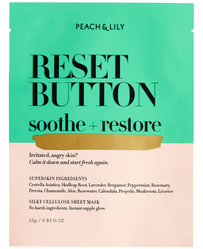 Peach & Lily - Reset Button Soothe + Restore Sheet Mask, 0.85 fl oz