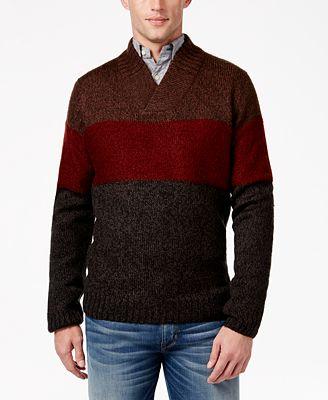 Tricots St Raphael Men's Big and Tall Shawl-Collar Sweater