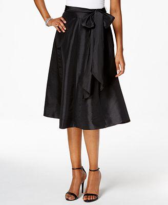 MSK Taffeta Belted A-Line Skirt - Skirts - Women - Macy's