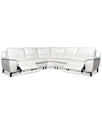 Stefana 5-Pc. Sectional Sofa with 2 Power Recliners, Created for Macy's