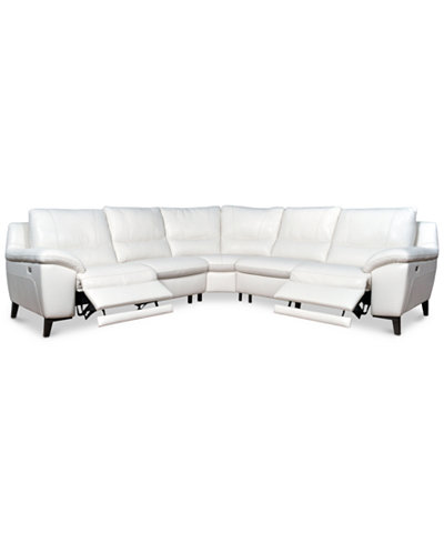 Stefana 5 Pc Sectional Sofa With 2 Power Recliners