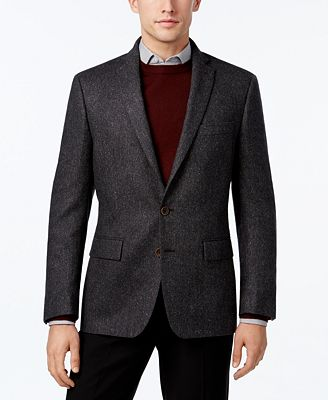 Ryan Seacrest Distinction™ Men's Slim-Fit Charcoal Flecked Sport Coat, Only at Macy's