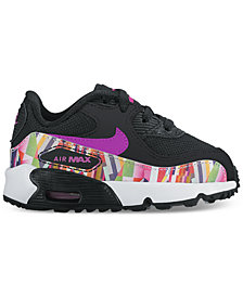 Nike Toddler Girls' Air Max 90 SE Mesh Running Sneakers from Finish Line