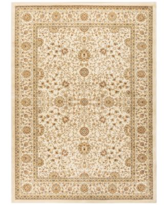 """CLOSEOUT! Oxford Kashan Ivory 5'3"""" x 7'3"""" Area Rug"""