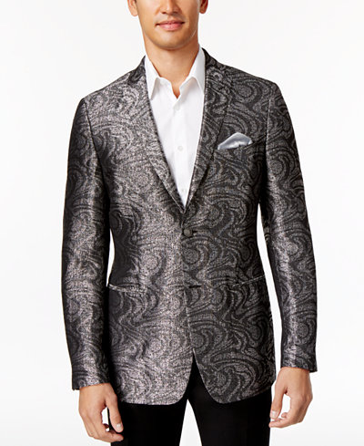 Tallia Men's Slim-Fit Gray/Silver Sport Coat