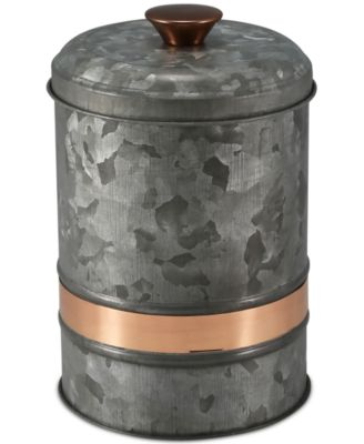 Small Two-Tone Galvanized Canister