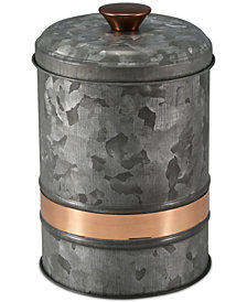 Thirstystone Small Two-Tone Galvanized Canister