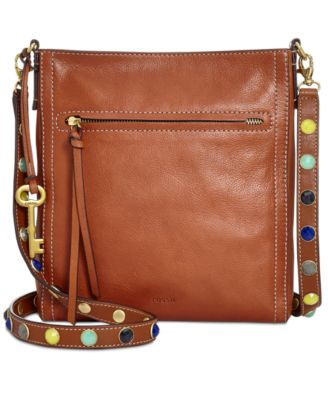 Fossil Emma Leather Satchel - Handbags & Accessories - Macy's
