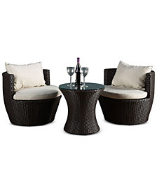 Ballston PE Wicker 3-Pc. Chair Set, Quick Ship