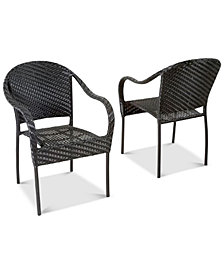 Farey Outdoor Wicker Armchair, Quick Ship