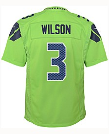 Russell Wilson Seattle Seahawks Color Rush Jersey, Big Boys (8-20)
