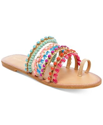 Madden Girl Krreed Embellished Slide Sandals