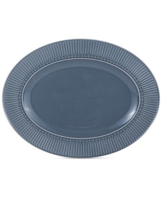 Italian Countryside Blue Oval Platter