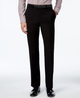 Image of Calvin Klein Slim-Fit Solid Dress Pants