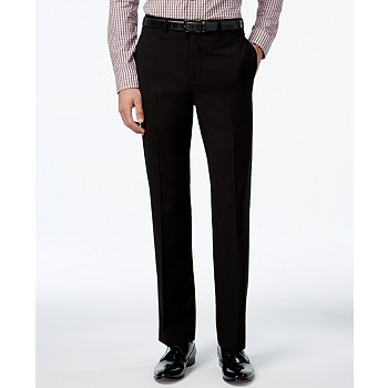 Calvin Klein Slim-Fit Solid Dress Pants