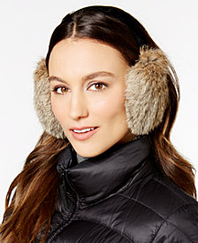 Surell Velvet Band Rabbit Fur Earmuffs