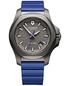 Victorinox Swiss Army Men's Swiss I.N.O.X. Blue Rubber Strap Watch 43mm 241759