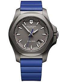 Victorinox Swiss Army Men's Swiss I.N.O.X. Blue Rubber Strap Watch 43mm 241759