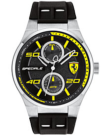 LIMITED EDITION Ferrari Men's Speciale Black Silicone Strap Watch 44mm 0830355