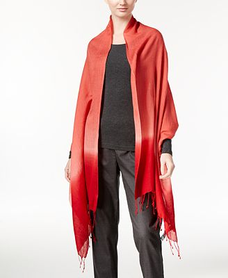 Eileen Fisher Wool-Silk-Blend Fringe Scarf