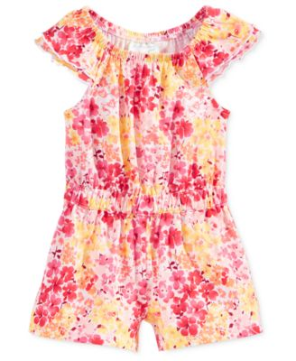 Image of First Impressions Floral-Print Romper, Baby Girls (0-24 months), Only at Macy's