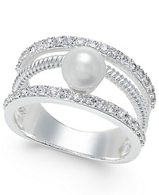 Crystal Imitation Pearl Ring, Created for Macy's