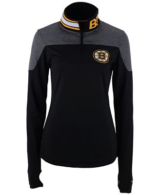 Reebok Women s Boston Bruins Performance Quarter-Zip Pullover ... 14b4151a9b