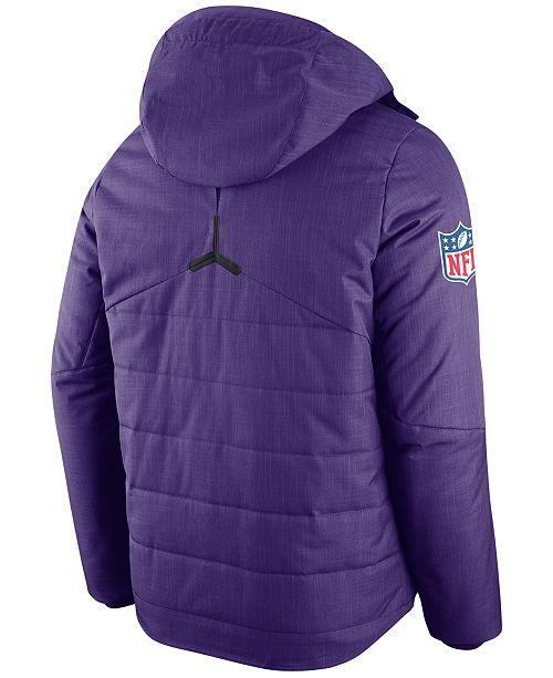 Nike Men s Minnesota Vikings Sideline Jacket - Sports Fan Shop By ... 8b399947e