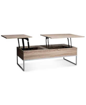 main image; main image ...  sc 1 st  Macyu0027s & Furniture Garan Lift-top Wood Storage Coffee Table Quick Ship ...