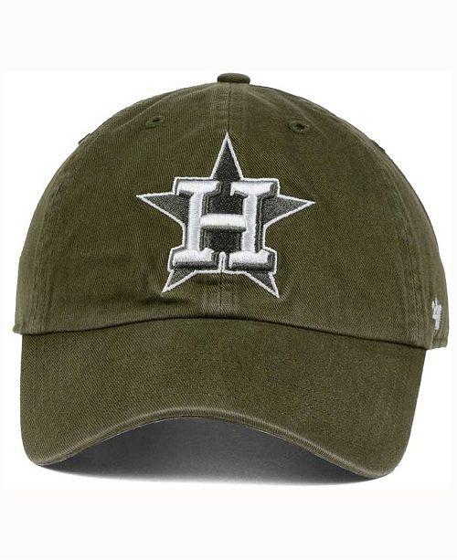 f5aeb30ac2ba6e 47 Brand Houston Astros Olive White CLEAN UP Cap & Reviews - Sports ...