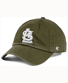 St. Louis Cardinals Olive White CLEAN UP Cap