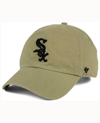 '47 Brand Chicago White Sox Khaki Clean UP Cap