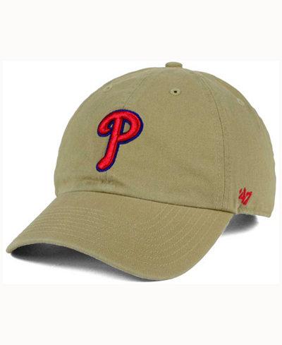 '47 Brand Philadelphia Phillies Khaki Clean UP Cap