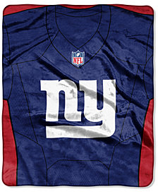 Northwest Company New York Giants Jersey Plush Raschel Throw
