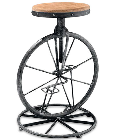 Oaklee Bicycle Wheel Adjustable Bar Stool Quick Ship