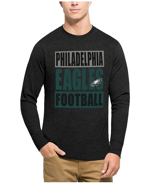 47 Brand Men s Philadelphia Eagles Compton Club Long-Sleeve T-Shirt ... f1f3b2180