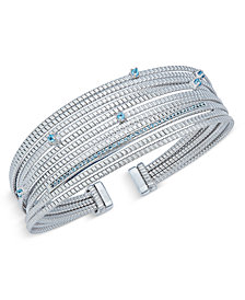 Swiss Blue Topaz Cuff Bracelet (1/2 ct. t.w.) in Sterling Silver