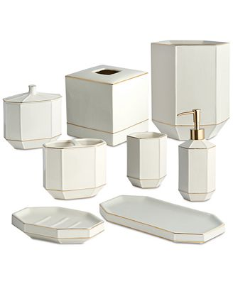 Bathroom Accessories Holder kassatex st. honore bath accessories collection - bathroom
