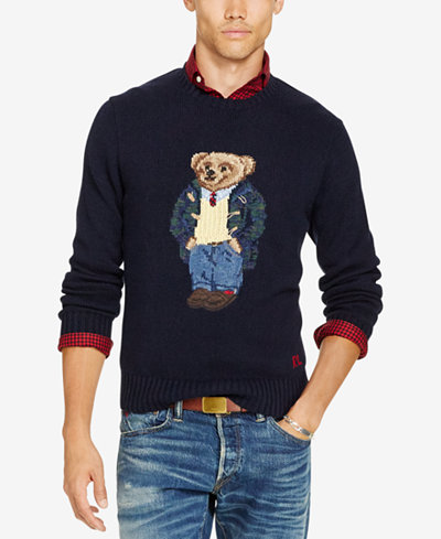 Polo Ralph Lauren Men's Big & Tall Polo Bear Sweater