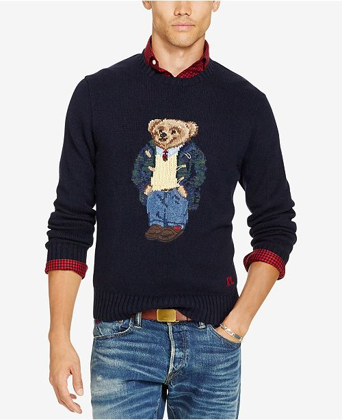 0266dcb75bf3d2 Polo Ralph Lauren Men's Big & Tall Polo Bear Sweater & Reviews ...
