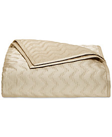 Hotel Collection Distressed Chevron Quilted King Coverlet, Created for Macy's