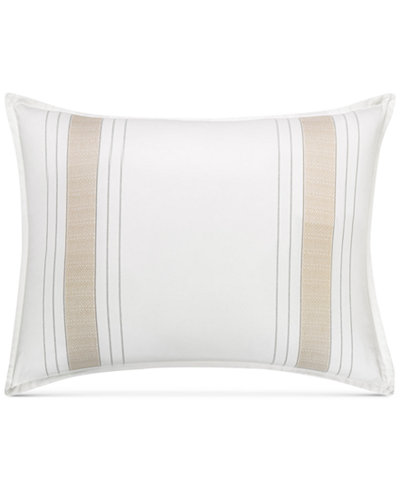 CLOSEOUT! Hotel Collection Woven Accent Standard Sham, Created for Macy's