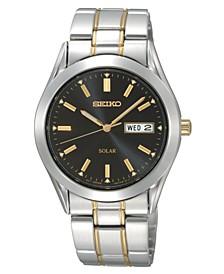 Watch, Men's Solar Two Tone Stainless Steel Bracelet 36mm SNE047