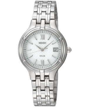 Seiko Women's Solar Stainless Steel Bracelet Watch 28mm SUT015